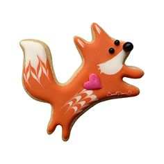 SweetDaniB Petite Jumping Fox Cookie Cutter Fox Cookies, Cut Out Cookies, No Bake Cookies, Sugar Cookies, Set Cookie, Cookies For Kids, Handmade Copper, Royal Icing Cookies, Birthday Cookies