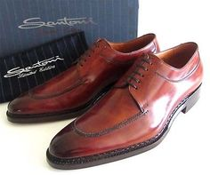 new SANTONI Limited Norvegese patina shoes