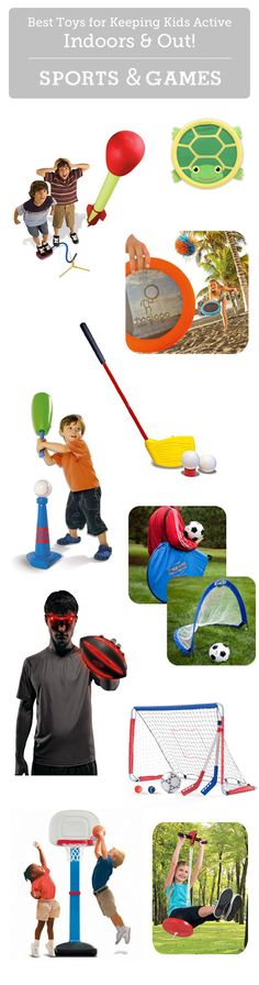 Top sports and game toys to keep kids active indoors and out.