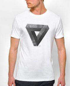 T-shirts Homme Lunar Tee by Chris Wharton Blanc by Chris Wharton