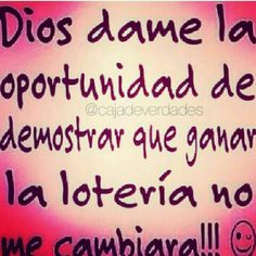 Dios dame la oportunidad