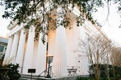 Outside of the Temple Kahal Kadosh Beth Elohim in Charleston, SC
