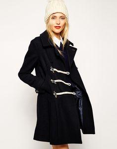 ASOS Duffle Coat with Drop Waist