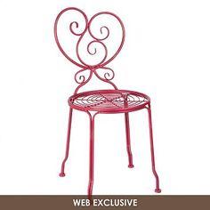 Kallista Red Iron Side Chair | Kirkland's