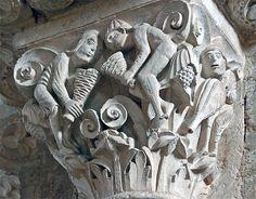 Capitel de los apicultores, Ste-Madeleine, Vezelay