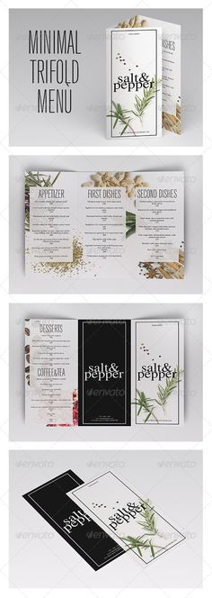 Minimal Trifold Menu Template #design #speisekarte Download: http://graphicriver.net/item/minimal-trifold-menu/7485617?ref=ksioks