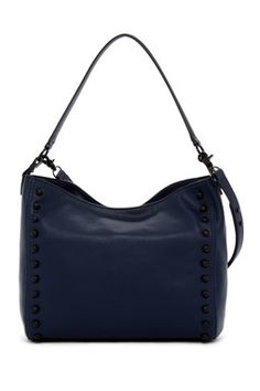 Mini Leather Hobo Bag