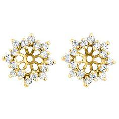 Cluster Style #Earring #Jacket - Halo Earring Jackets - Earring Jackets at earring-jackets.com