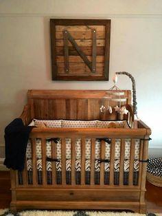 Love The DIY Crib Bed Pallet Sign Wall Art In Nursery