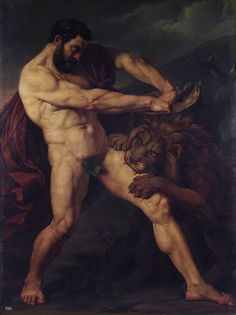 Milo of Croton. 1824. Pietro della Valle.  Accademia Nazionale di San Luca