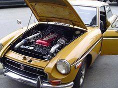 Kyle Bingham's 1970 MGB-GT with Nissan SR20DET Engine