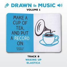 Drawn to Music - Volume 1 : Track 8 - Waking Up by Elastica #sketchbookproject2017 #drawntomusic #volume1 #S164511 #halfandhalf #blackwhiteandblue #wakingup #elastica