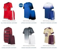 Ready to look like a professional soccer team? At Uniform Store we specialize in the design and supply of custom soccer uniforms, jerseys, coaching apparel, and more. Call us today for a free quote. (800) 580-5614 http://uniformstore.com/product-category/soccer-uniforms/