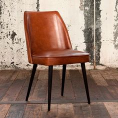 Gaia Vintage Leather Dining Chair, Brown   Dining Chairs   Dining Room