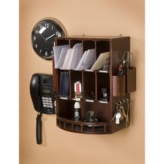 Keep your mail organized and off the counter with this convenient  over-the-door holder! It features a versatile design, making it a handy  addition