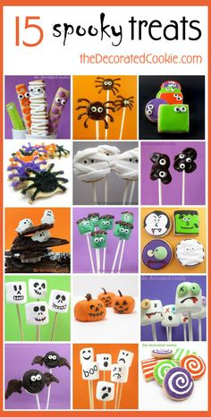 15 decorated treats for Halloween