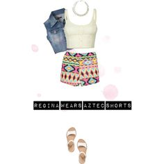 A fashion look from June 2013 featuring cream lace top, Jane Norman and aztec shorts. Browse and shop related looks. Aztec Shorts, Ootd, Crop Tops, Shoe Bag, Casual, Polyvore, How To Wear, Stuff To Buy, Outfits