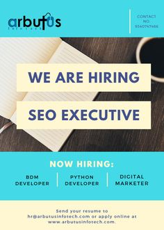 SEO EXECUTIVE We Are Hiring, Jobs Hiring, Hiring Poster, Graphic Design Inspiration, Flyer Design, Seo, Designers, Layout, Graphics