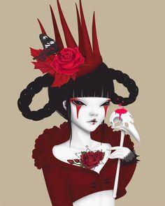 red queen Art Print by kimberlyqueen Queen Art, Red Queen, Nature Posters, Thai Art, Canvas Prints, Art Prints, Creepy Cute, Print Artist, Surreal Art