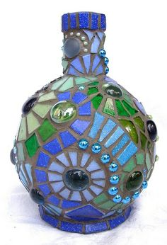 LOVE use of glass beads in mosaic!