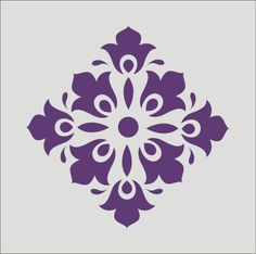 Wall Stencil damask flourish design, image is approx. 6 x 6 inches. $5.95, via Etsy.