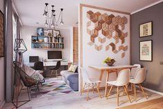 Pequeño apartamento diseñado para una joven pareja | Decoración