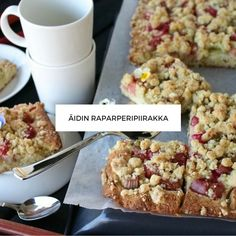Raparperipiirakka Vegan Cake, Vegan Desserts, Pie Recipes, Vegan Recipes, Coffee Bread, Vegan Gains, Sweet Pie, Bread Cake, Something Sweet