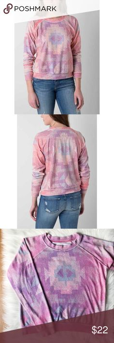 Billabong Pink Aztec Print Sweatshirt Billabong Pink Aztec Print Sweatshirt. Perfect condition.  Size Lg. but it would fit a Med. as well!  Happy to answer any questions!  Thanks for looking!   OFFERS are welcome!  ** 15% off Bundles of 3+ ** Ships within 24 hours!  Smoke free home. No trades or Paypal. Billabong Tops Sweatshirts & Hoodies