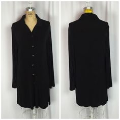 CHICO'S Travelers Classic Black Button Up Tunic Top. 1  | eBay