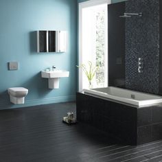 Order your modern bathroom suites online today. Choose from a luxury range of contemporary bathroom suites – with finance & free UK delivery available. Complete Bathrooms, Dream Bathrooms, Modern Bathroom, Small Bathroom, Bathroom Ideas, Traditional Bathroom Suites, Big Tub, Walk In Shower Designs, Bathroom Closet