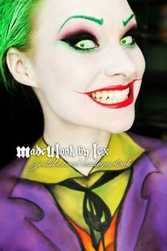 Madeulookbylex joker makeup I love lex and I watch her channel all the time! Look up madeulook by Lex on YouTube! Like and subscribe! You will not regret she is amazing