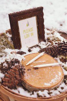 Wooden Log Guest Book | Brides.com