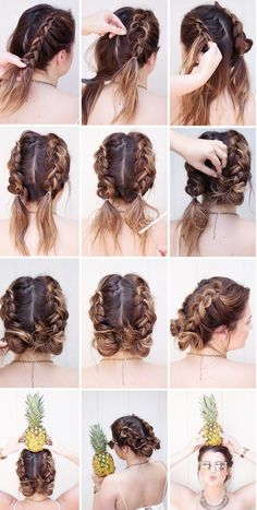 <img> Different Braids Tutorials Braids – a relatively new word among modern stylish hairstyles. Salons offer customers not only variations on the theme a l…, Braids Tutorials - Medium Hair Braids, Two Braids, Medium Hair Styles, Short Hair Styles, Dutch Braids, Hairstyles For Medium Length Hair, Messy Braids, French Braid Buns, Braid Bangs