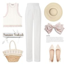 """""""Summer Neutrals"""" by pattykake ❤ liked on Polyvore featuring Balenciaga, Amanda Wakeley, BoConcept, Charlotte Russe, Sun N' Sand and Cara"""