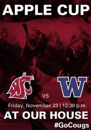 Going to the Apple Cup? RSVP on Facebook for exclusive content. #GoCougs