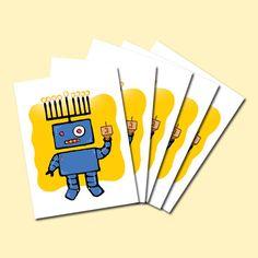 Hanukkah Robot  Robonukkah  Holiday Greeting Card by botodesigns, $15.00