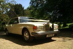 Ivory Rolls Royce Silver Spirit Wedding Car www.spiritweddingcars.co.uk