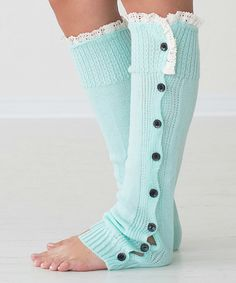 Look at this Aqua Betty Leg Warmers on #zulily today!