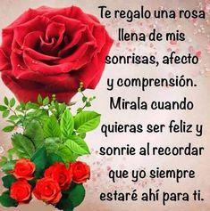 Imágenes de rosas rojas con frases románticas para regalar