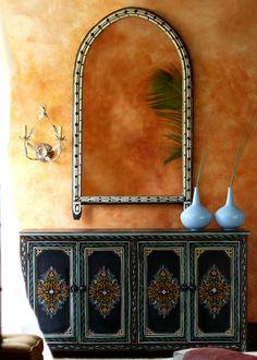Boho Gypsy Glam ~ love the wall color