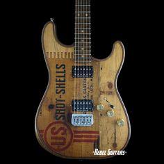 "Walla Walla Guitar Company Seeker Vintage Wood ""US Shot"" | Rebel Guitars"