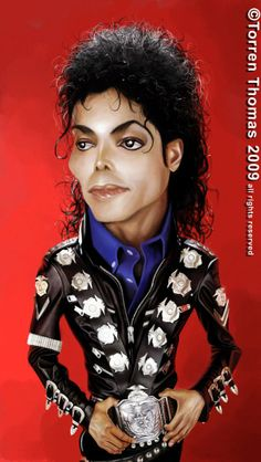Michael Jackson #Caricature #FunnyFaces