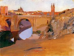Learn more about View of the Tajo, Toledo Joaquin Sorolla y Bastida - oil artwork, painted by one of the most celebrated masters in the history of art. Spanish Painters, Spanish Artists, Abstract Landscape, Landscape Paintings, Klimt, Environment Painting, European Paintings, Jewish Art, Madrid