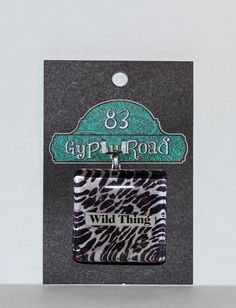 MS 16  Glass Pendant  Wild Thing by 83GypsyRoad on Etsy