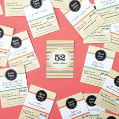 Free Printable: 52 Date Ideas Card Deck