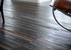 """Recycled Leather Belt Flooring. This would make a kind of gnarly rug. I think I would group the belt pieces into squares and then alternate the square's direction 90 degrees every """"tile""""."""