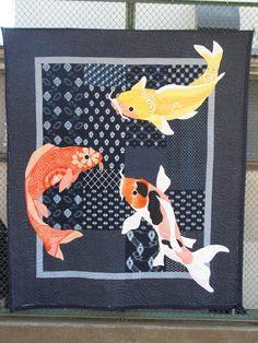 Koi or goldfish quilt; very nice!