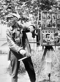 Street photographer, 1920.