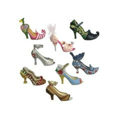 Amazon.com: Wizard of Oz Shoe Figurine Collection (Set of 8) found on Polyvore