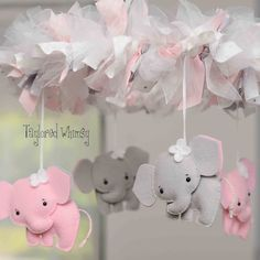 Elephant Mobile  Baby Mobile  Custom Mobile not by TayloredWhimsy, $105.00